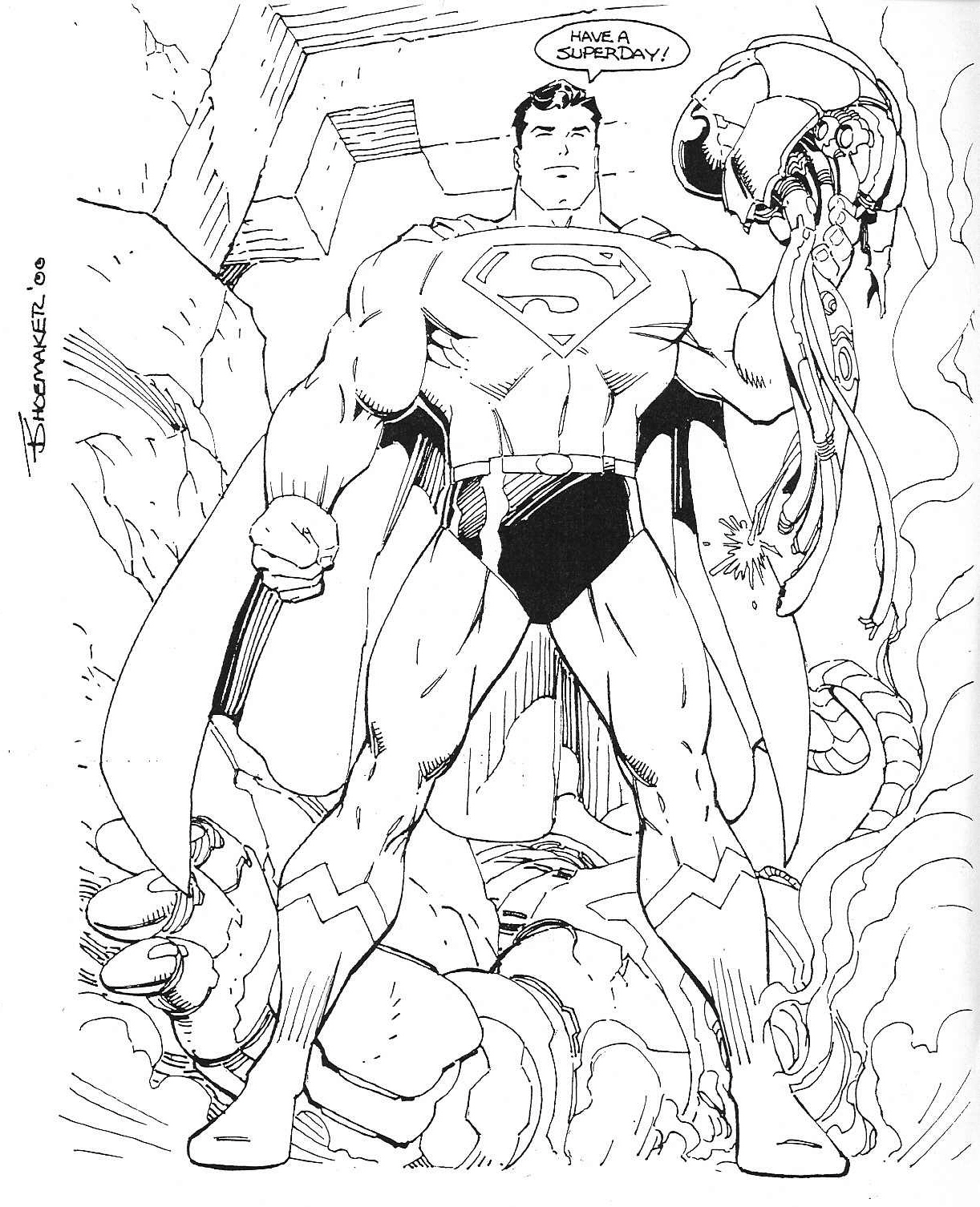 Free Coloring Pages Of Dc Comic Books